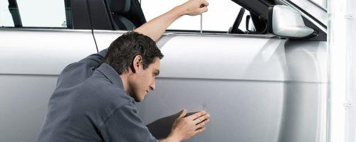 Устранение вмятин на автомобиле в автосервисе